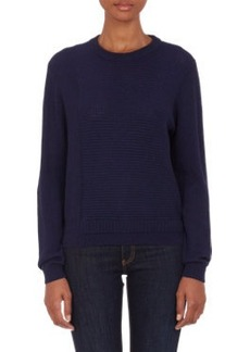 Proenza Schouler Mixed-Stitch Crewneck Sweater