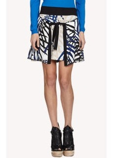 Proenza Schouler Monstera Leaf-Print Double Wrap Skirt