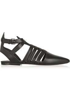 Proenza Schouler Multi-strap leather point-toe flats