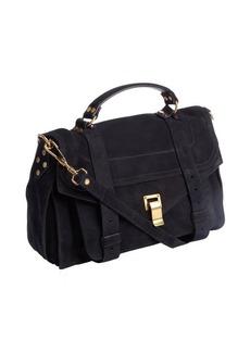 Proenza Schouler navy suede medium 'PS 1' convertible shoulder bag