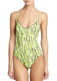 Proenza Schouler One-Piece Tie-Dye Swimsuit