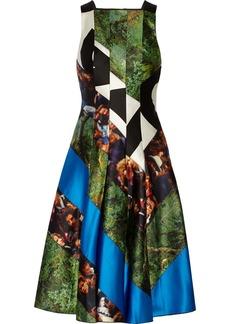 Proenza Schouler Paneled printed satin dress