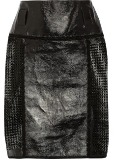 Proenza Schouler Perforated glossed-leather skirt