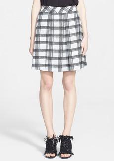Proenza Schouler Plaid Crepe Skirt