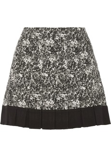 Proenza Schouler Pleated printed silk-crepe mini skirt
