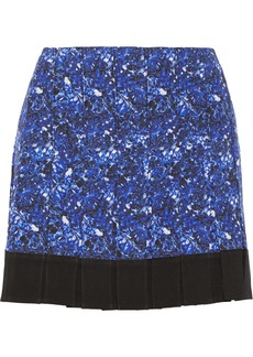 Proenza Schouler Pleated silk-crepe mini skirt