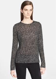 Proenza Schouler Print Tissue Jersey Long Sleeve Top