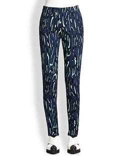 Proenza Schouler Printed Crepe Pants