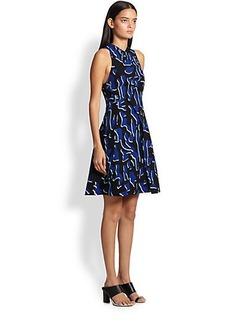 Proenza Schouler Printed Crossover Dress