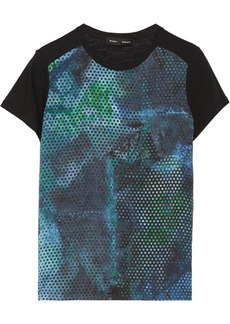 Proenza Schouler Printed silk-crepe and cotton-jersey T-shirt
