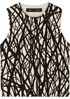 Proenza Schouler Printed stretch-knit silk-blend top