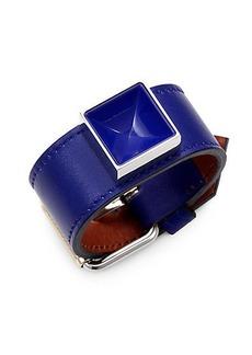 Proenza Schouler PS11 Leather & Lacquer Large Bracelet
