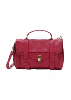 Proenza Schouler raspberry leather 'PS1' medium convertible satchel