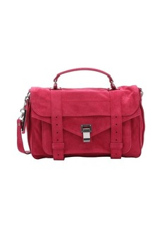 Proenza Schouler raspberry suede 'PS1' medium convertible satchel