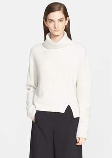 Proenza Schouler Ribbed Wool & Cashmere Turtleneck Sweater