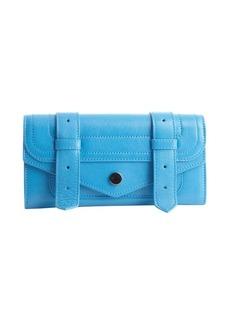 Proenza Schouler riptide blue leather 'PS1 Continental' wallet