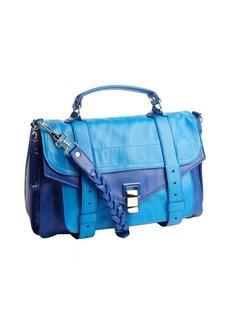 Proenza Schouler royal and ocean blue leather medium 'PS 1' convertible shoulder bag