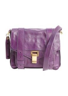 Proenza Schouler royal purple leather 'PS1 Pouch' buckle strap shoulder bag