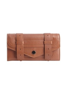 Proenza Schouler saddle brown leather 'PS1 Continental' wallet
