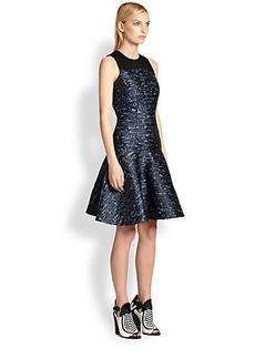 Proenza Schouler Silk Jacquard Drop-Waist Dress