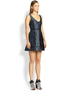 Proenza Schouler Silk Jacquard Fit-&-Flare Dress