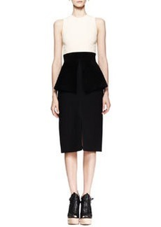 Proenza Schouler Sleeveless Bicolor Peplum Dress