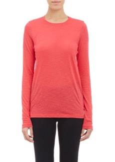 Proenza Schouler Slub-Knit Long-Sleeve T-shirt
