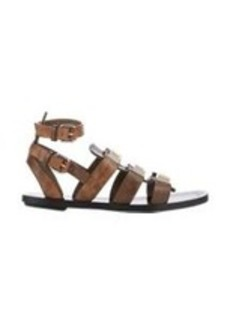 Proenza Schouler Snakeskin Studded Gladiator Sandals