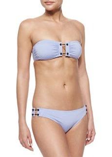 Proenza Schouler Solid Bandeau Swim Top & Bottom, Lavender