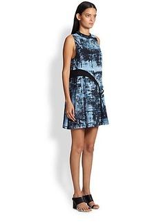 Proenza Schouler Spray-Print Silk Dress