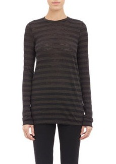 Proenza Schouler Stripe Slub Long-Sleeve T-shirt
