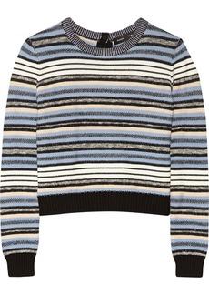 Proenza Schouler Striped chunky-knit wool-blend sweater