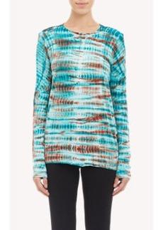 Proenza Schouler Tie-Dye Slub Long-Sleeve T-shirt
