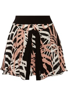 Proenza Schouler Tie-front textured silk skirt
