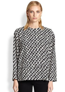 Proenza Schouler Tweed-Print Crepe Top