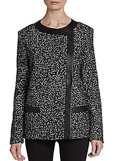 Proenza Schouler Tweed-Printed Tulle Jacket