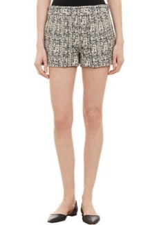 Proenza Schouler Tweed Tri-Pleated Shorts