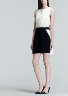 Proenza Schouler Two-Tone Belted Pocket Dress