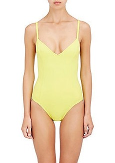 Proenza Schouler V-Neck Classic One-Piece Swimsuit