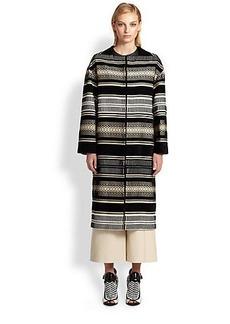 Proenza Schouler Velvet Jacquard Coat