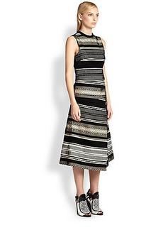 Proenza Schouler Velvet Jacquard Midi Dress