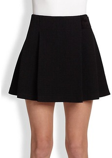 Proenza Schouler Wool Jersey Pleated Mini Skirt