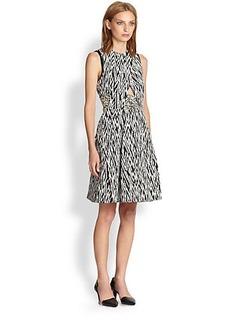 Proenza Schouler Zigzag Jacquard Dress