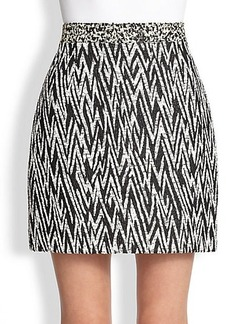 Proenza Schouler Zigzag Jacquard Mini Skirt