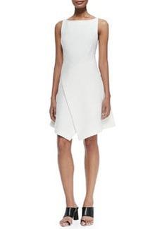 Sleeveless Dress W/ Scissor-Hem Front   Sleeveless Dress W/ Scissor-Hem Front