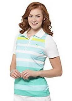 Duo-Swing Stripe Print Golf Polo Shirt
