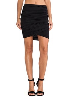 Rachel Pally Brooks Asymmetric Mini Skirt in Black