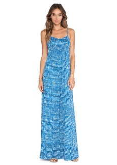 Rachel Pally Crane Maxi Dress in Blue