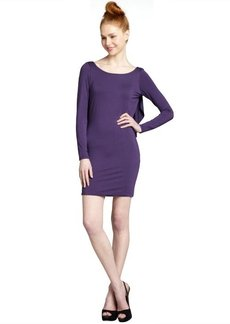 Rachel Pally grape jersey knit open ruffled back 'Jlynn' dress