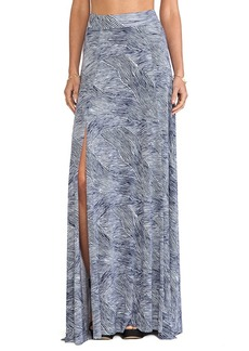 Rachel Pally Josephine Printed Maxi Skirt in Navy